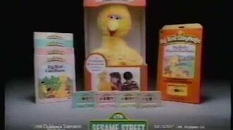 1986 Sesame Street talking Big Bird toy commercial.