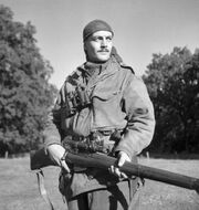 566px-Sergeant H.A. Marshall of the Sniper Section, The Calgary Highlanders