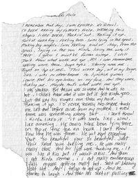 Father's Field lyrics sheet