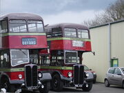 City of Oxford Motor Services AEC Regent III RTs at the Oxford Bus Museum