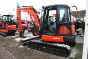 Kubota KX057-4 + Hydraulic log splitter at Lamma 2013 - IMG 6442