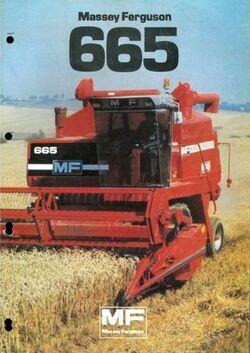 MF 665 combine brochure