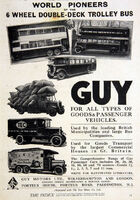 A 1930s GUY MOTORS Original Model Range Catalogue