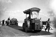 A 1940s Aveling Barford Roadroller Petrol engined in Holland