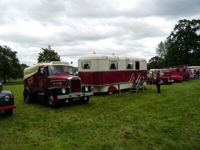 Scammell Highwayman MrPlod - 3166 RH living van at Shugbrough 08 - P6220144