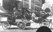1894 paris-rouen - count albert de dion (de dion-bouton steam tractor) finished 1st, ruled ineligible for prize
