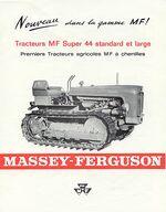 MF 44 crawler b&w brochure - 1964
