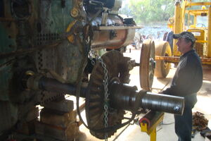 80 Removing the axle