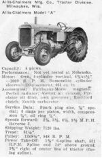 List of Allis-Chalmers tractors | Tractor & Construction