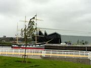 Riverside museum from Govan