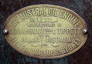 Ronaldson Bros & Tippett Austral oil engine no. 3696 sn plate - IMG 3743