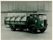 A 1940s Thornycroft Dandy Dustcart