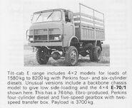 1970s EBRO E70 4X4 Truck
