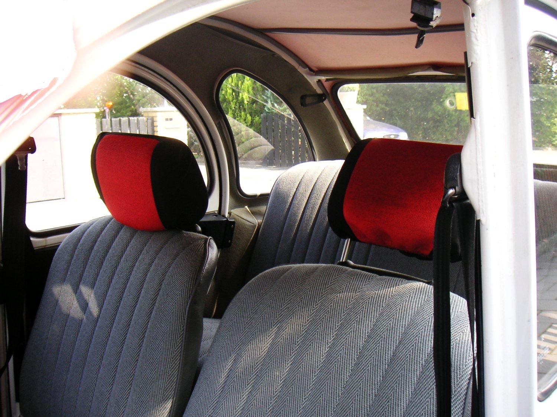 CITROEN C3 PLURIEL 03-10 LUXURY FULL SEAT COVER SET BLACK /& RED PIPING