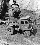 A 1960s Aveling Barford SL270 Quarry Dumptruck