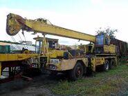 A 1970s ALLEN-GROVE HS1564 Cranetruck Hydraulic Diesel 6X4