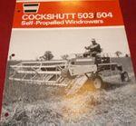 Cockshutt 504 swather b&w brochure