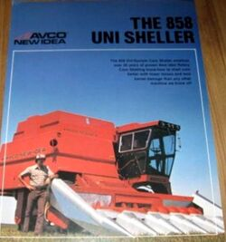 New Idea (AVCO) 858 Uni Sheller brochure