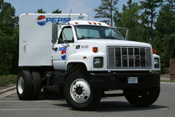 2008-08-04 GMC 7500 Pepsi truck parked at CVS
