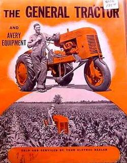Cletrac The General & Avery equipment ad - 1940