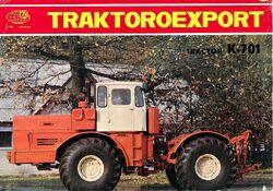 Kirovets K-701 4WD brochure - 1974