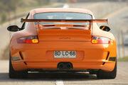 Orange 997 GT3 RS rear view