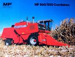 MF 860 combine brochure