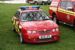 MG Rover ZT - (BC51 JPX) Fire Marshall car at Weston park 2012 -IMG 6659