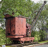A 1920s Smith Rodley Steam Crane at the Bradford Industrial Museum