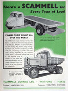 A 1950s Scammell Lorries Original Catalogue