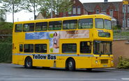 Go North East bus 3900 Volvo Olympian Northern Counties Palatine I no grille R549 LGH Yellow Bus livery in Gateshead 5 May 2009