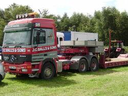 JCBalls Mercedes and Low loader unit