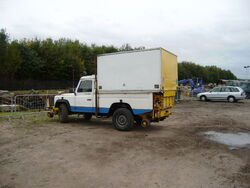 Landrover fitted with Road rail conversion - PA040123