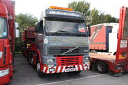 Volvo FH12 (M134MEE) + Scammell load at Exelby services 2013 - IMG 1981