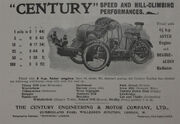 1902 Century advert - tandem forecar with Aster engine