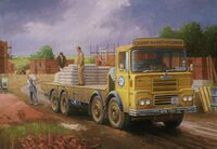 A 1970s GUY Big J8 Cement delivering lorry