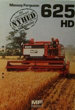 MF 625 HD combine brochure