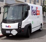 Modec FedEx truck, LA