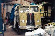 A 1950s Proctor Lorry Diesel 7 Ton under restoration
