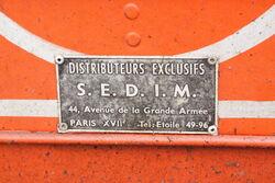 SEDIM plate (french Feild Marshall distributor) IMG 8261
