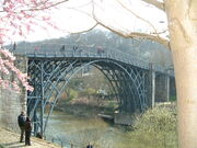 Ironbridge over the river Seven- 2006 - DSCF0055