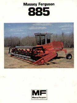MF 885 swather brochure