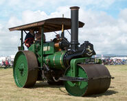 A 1930s Aveling Barford Steam Roller preserved