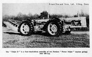 A 1960s DOE Triple D Fordson Power Major 4WD Tractor