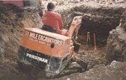 A 1980s Priestman Minidigger Diesel