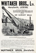 A 1899 Whitaker Brothers Navvy Steam Excavator