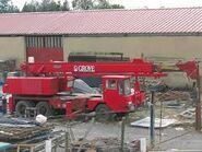 A 1990s ALLEN-GROVE Cranetruck Hydraulic HS Series