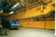 Crane manufactured by Butterley Engineering being loaded for road transport