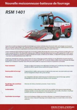 RostSelMash RSm-401 forage harvester brochure