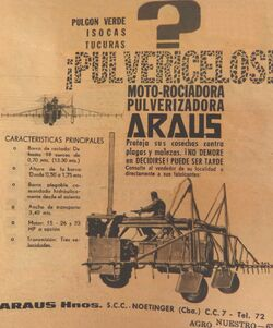 Araus sprayer b&w brochure